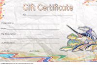 Free Fishing Trip Gift Certificate Template 1