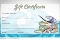 Free Fishing Trip Gift Certificate Template 2