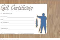 Free Fishing Trip Gift Certificate Template 3
