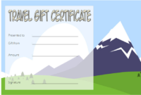 Free Travel Voucher Gift Certificate Template 2