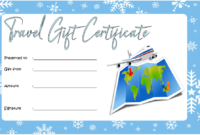 Free Travel Voucher Gift Certificate Template 3