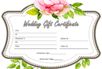 Free Wedding Gift Voucher Template 2