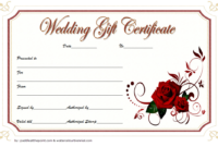 Free Wedding Gift Voucher Template 3