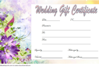 Free Wedding Gift Voucher Template 4