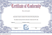 General Certificate of Conformity Template FREE