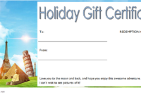 Happy Holidays Gift Certificate Template FREE 1