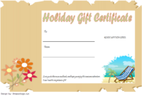 Happy Holidays Gift Certificate Template FREE 2