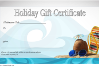 Happy Holidays Gift Certificate Template FREE 3