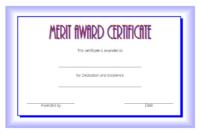 Merit Award Certificate Template 1 FREE