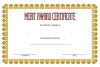 Merit Award Certificate Template 2 FREE