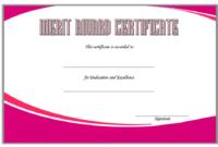 Merit Award Certificate Template 3 FREE