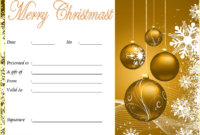 Merry Christmas Gift Certificate Template FREE 2