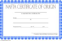 NAFTA Certificate of Origin Template 2018 FREE 1