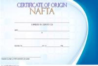 NAFTA Certificate of Origin Template 2018 FREE 3