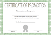 Promotion Certificate Template FREE 1