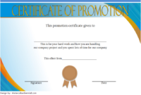 Promotion Certificate Template FREE 2