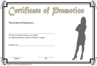 Promotion Certificate Template FREE 4