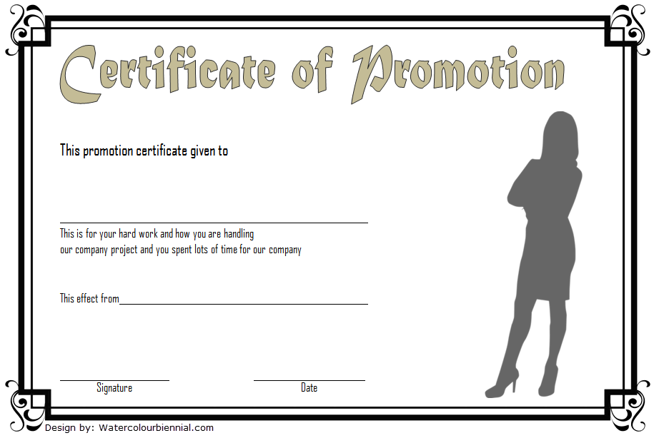 Promotion Certificate Template from twopackage.com
