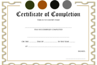Certificate of Completion Template Free Download Word 1