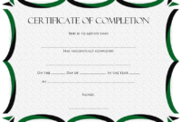 Certificate of Completion Template Free Download Word 2