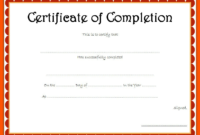 Certificate of Completion Template Free Download Word 3