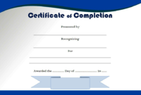 Certificate of Completion Template Free Printable 1