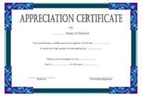 Community Service Certificate Template Free 1