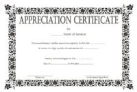 Community Service Certificate Template Free 2