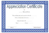 Community Service Certificate Template Free 3