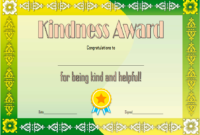 FREE Act of Kindness Award Certificate Template 1