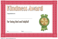 FREE Act of Kindness Award Certificate Template 2