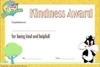 FREE Act of Kindness Award Certificate Template 3