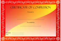 FREE Certificate of Completion Template Construction 1