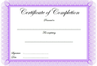FREE Certificate of Completion Template Construction 2