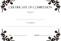 FREE Certificate of Completion Template Construction 3