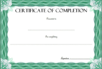 FREE Certificate of Completion Template Construction 4