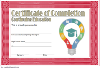 FREE Certificate of Continuing Education Template 1