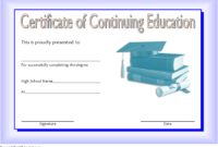 FREE Certificate of Continuing Education Template 2
