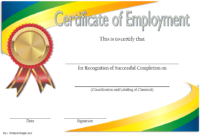 FREE Certificate of Employment Template 1