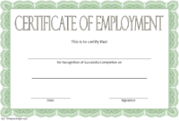 FREE Certificate of Employment Template 2