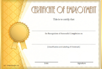 FREE Certificate of Employment Template 3
