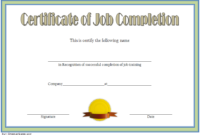 FREE Certificate of Job Completion Template 1