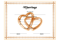 FREE Christian Church Marriage Certificate Template Word 1