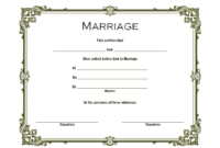 FREE Christian Church Marriage Certificate Template Word 2