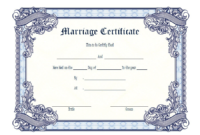 FREE Christian Church Marriage Certificate Template Word 3