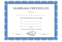 FREE Christian Church Marriage Certificate Template Word 4