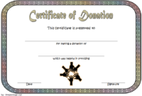 FREE Donation Certificate Template 1