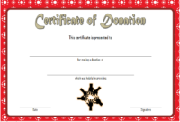 FREE Donation Certificate Template 2