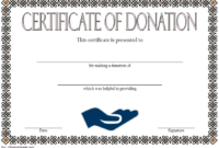 FREE Donation Certificate Template 3