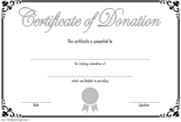 FREE Donation Certificate Template 4